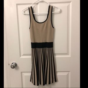 Tan and Black Guess fit'n'flare dress